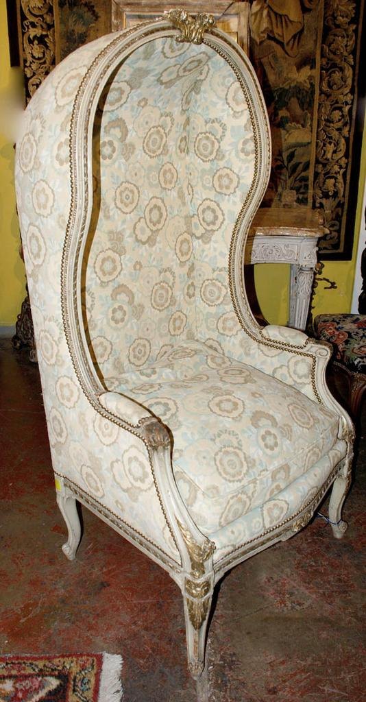 Louis XV Style Hooded Chair