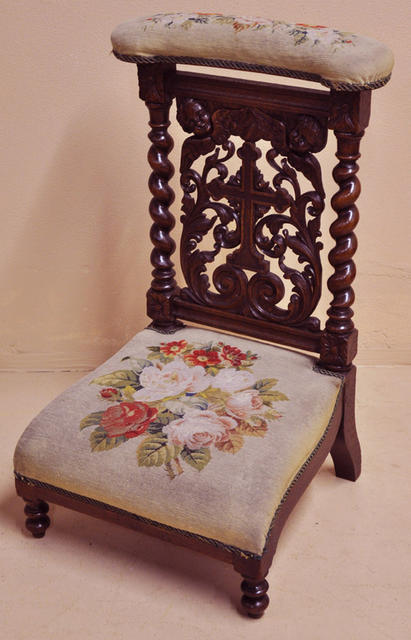 french 19th c prie dieu sold on ruby lane. Black Bedroom Furniture Sets. Home Design Ideas