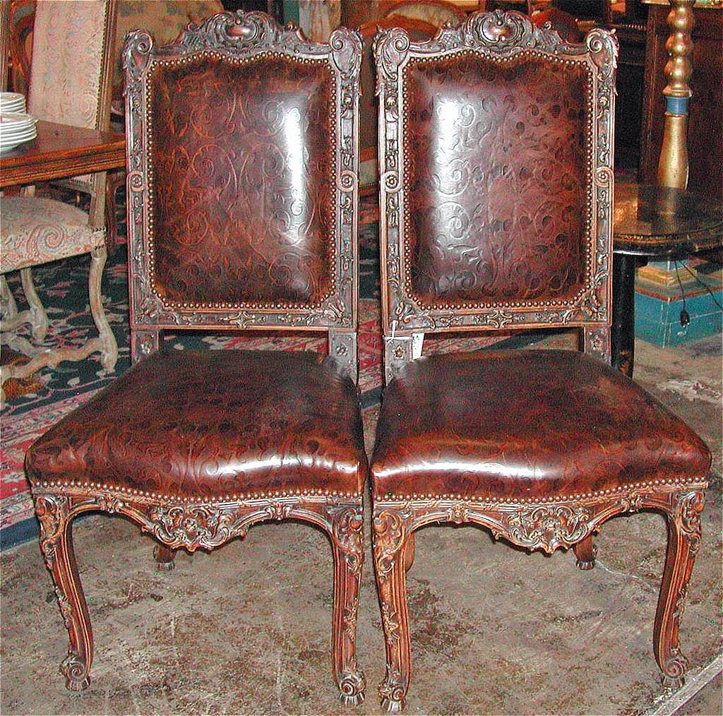 Handsome Pair of Leather Chairs