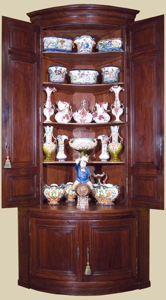 18th Century Walnut Corner Cabinet