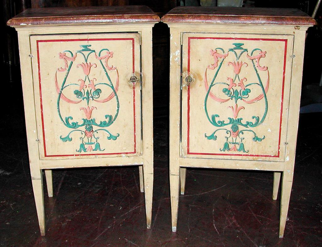 French Painted Nightstands