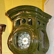 French Longcase Painted Clock