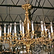 Grand French Dore Bronze Chandelier