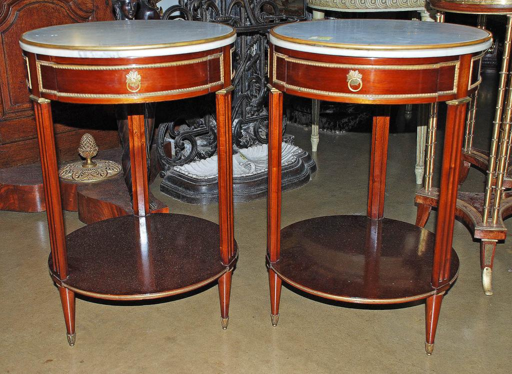 "Pair of French Louis XII Style Tables By ""Jensen"""