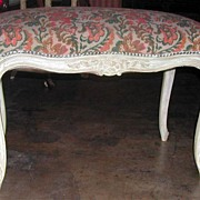 Lovely 19th Century French Polychrome & Needlepoint Bench