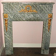 French Marble Mantle with Bronze