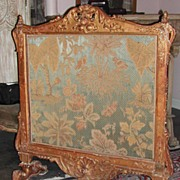 Antique French Giltwood Fire Screen