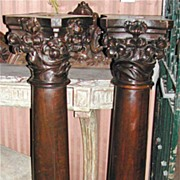 Nice Pair of French Wood Columns