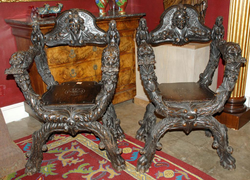 Superb Pair of Italian Chairs