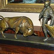 Bronze Toreador with Bull