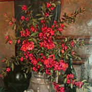 """Still-Life of Red Flowers"""