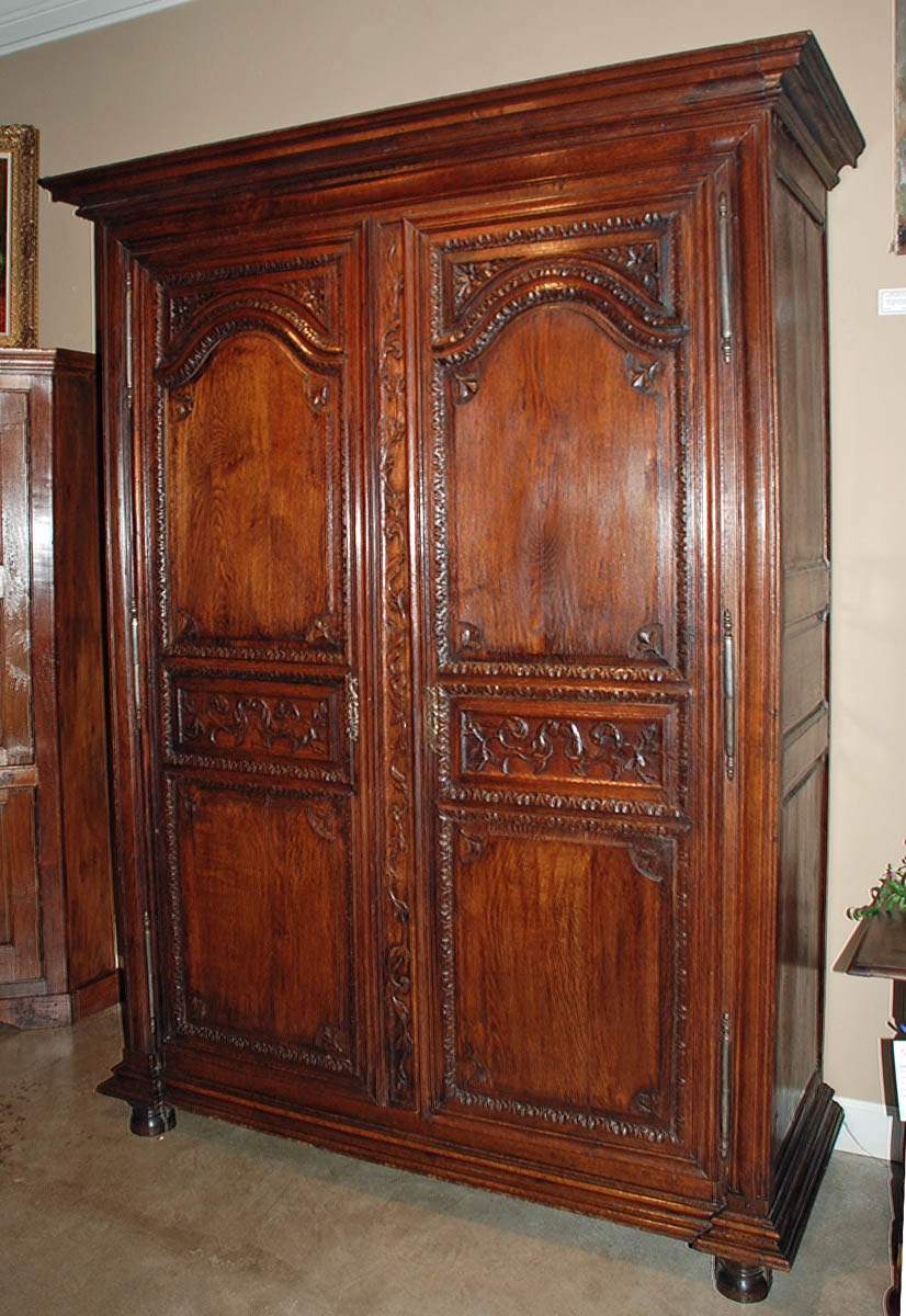 carved louis xiii armoire from antiquingwithpamela on ruby lane. Black Bedroom Furniture Sets. Home Design Ideas