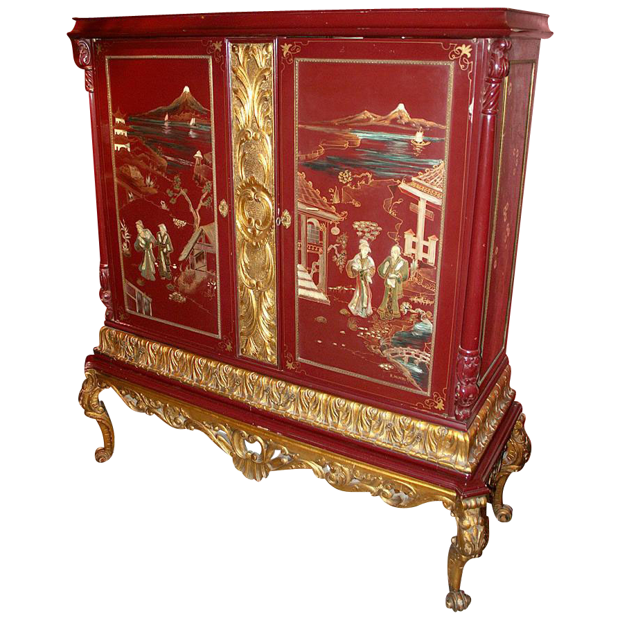 Chinese Export Lacquered Cabinet