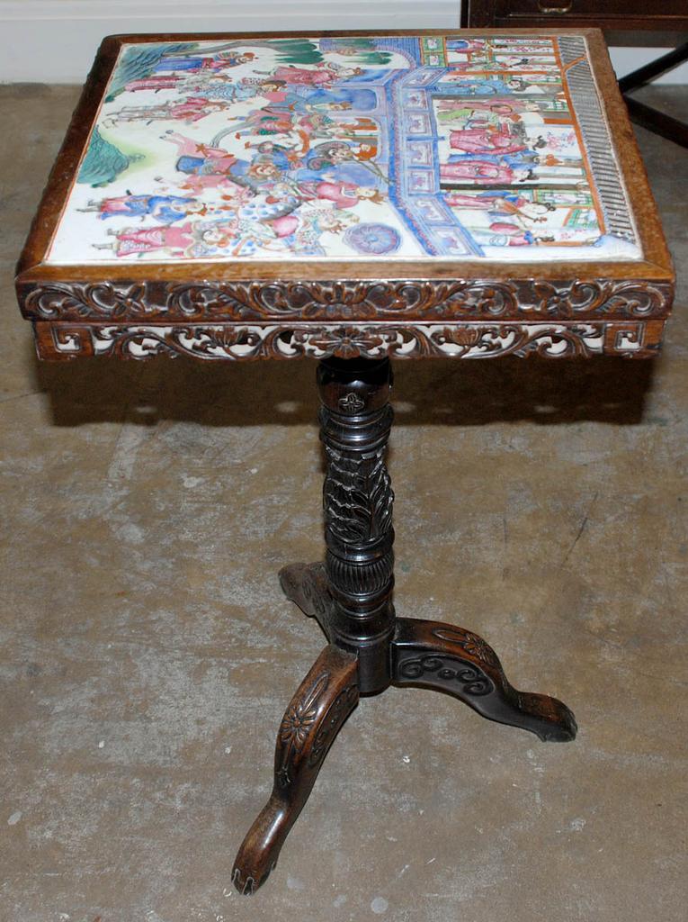 Asian Pedestal Table