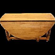 English Bleached Oak Gate leg Table