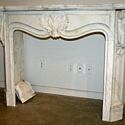 French White Marble Mantle