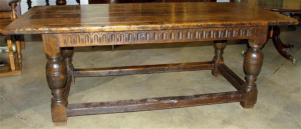 English Oak Trestle Table