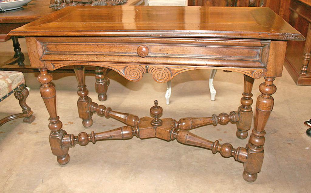French Walnut Console Table