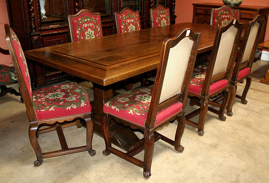 Set of Eight French Dining Chairs