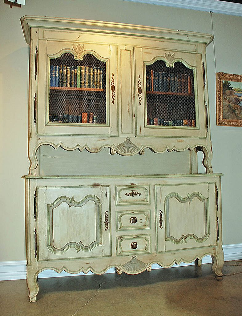 French 18th Century Painted Buffet a Deux Corps