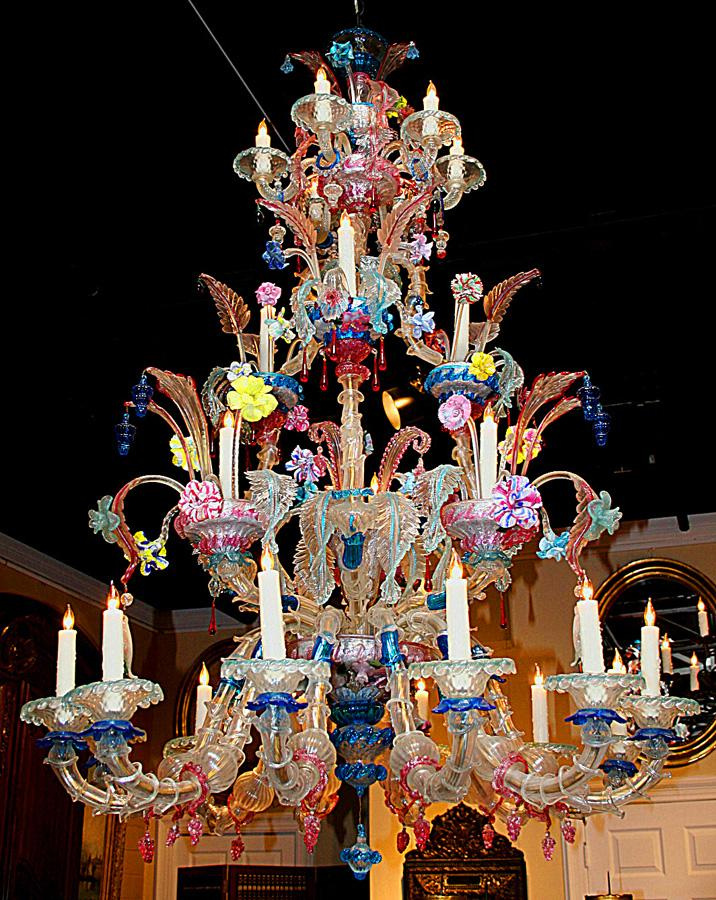Elaborate Murano Chandelier - Elaborate Murano Chandelier SOLD On Ruby Lane