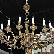 French Bronze 16 Light Chandelier