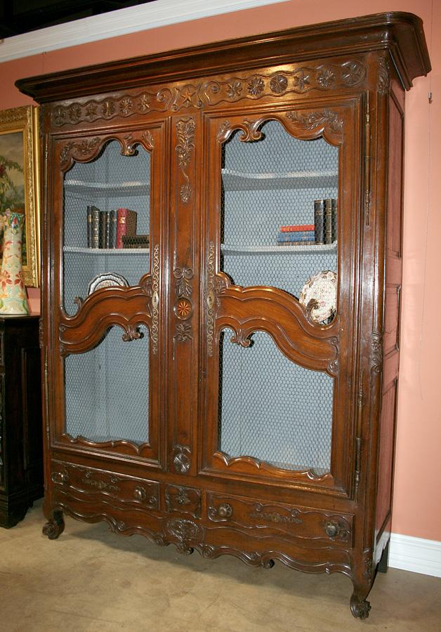 Nicely Carved French Cabinet