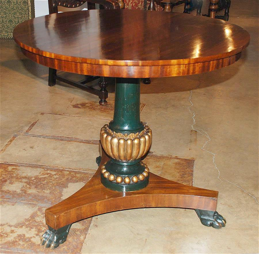 Handsome Empire Mahogany Table