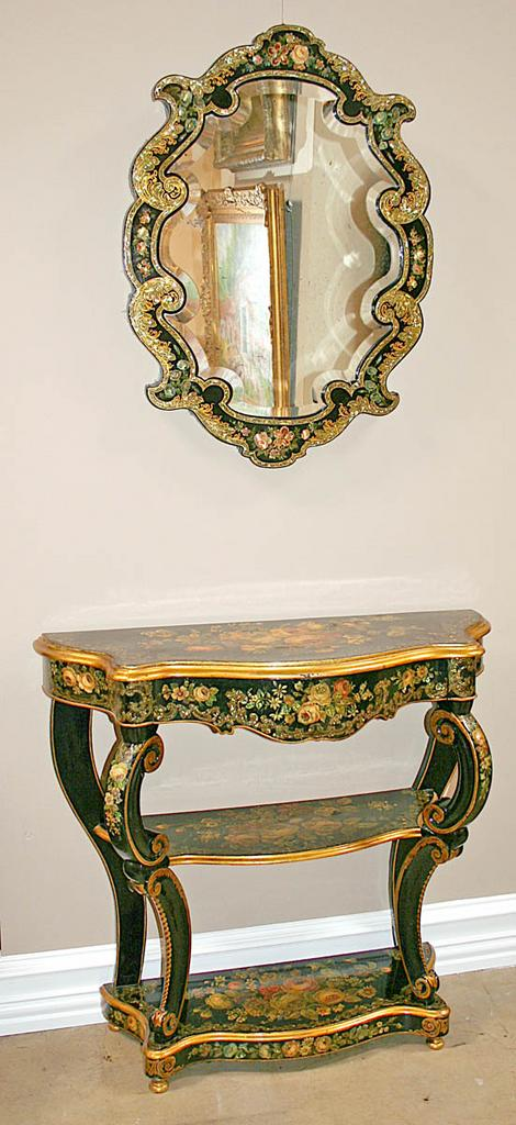 Gorgeous French Mirror & Console