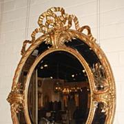 Louis XVI Style Oval Mirror