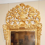 French Gilt Beveled Mirror