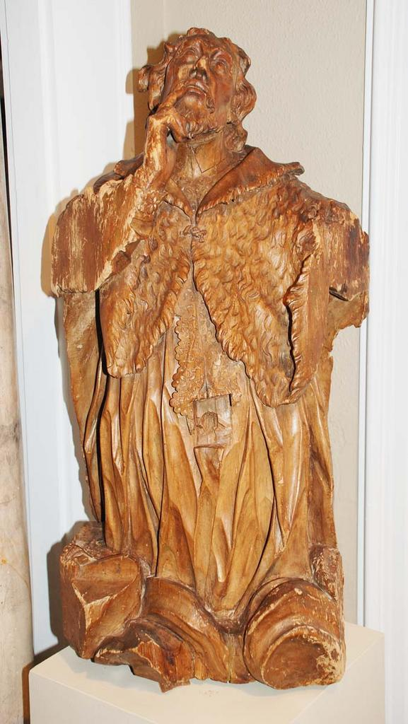 Carved Religious Figure