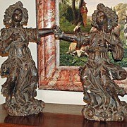Pair of Italian Carved Archangels