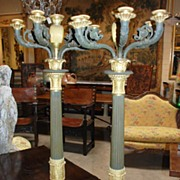 Pair of Empire Style Candelabras