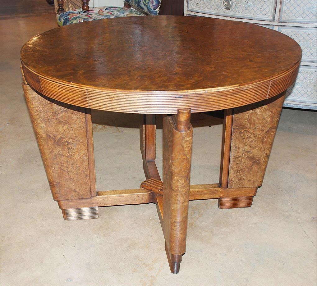 Burled Art Deco Game Table