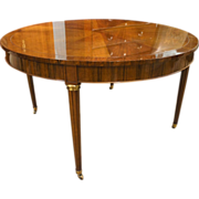 French Louis XVI Style Round Center Table