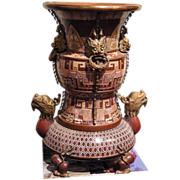 Unusual Chinese Cloisonne Vessel