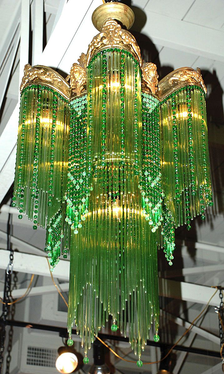 Art nouveau chandelier sold on ruby lane for Chandelier art nouveau