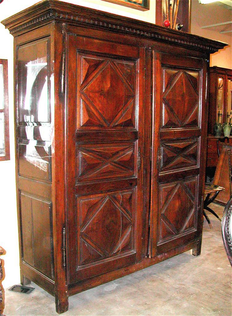 robust louis xiii armoire sold ruby lane. Black Bedroom Furniture Sets. Home Design Ideas