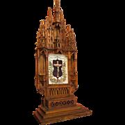 Unusual Gothic Altar Piece with Crucifix