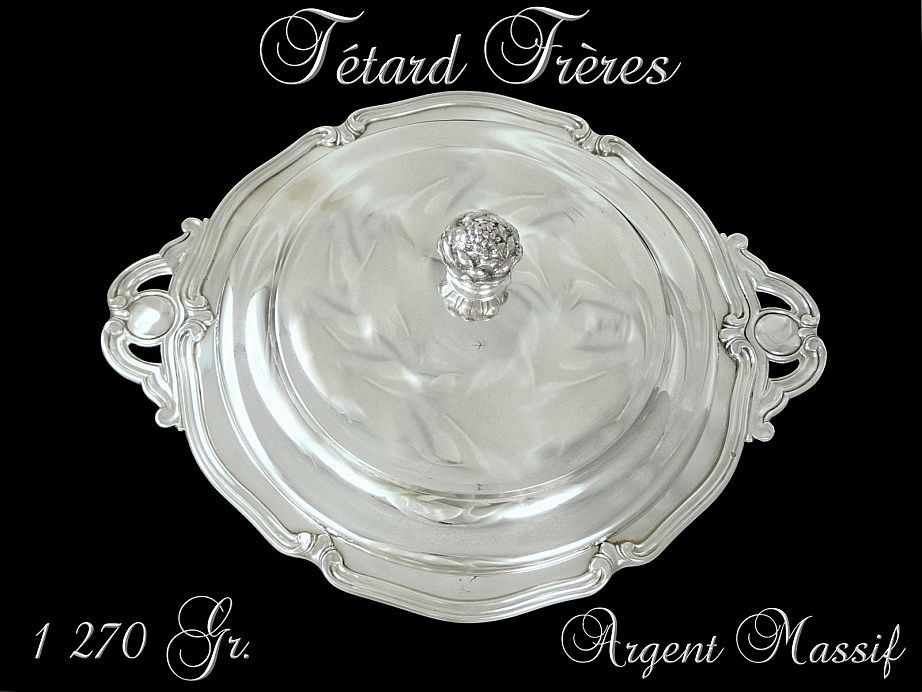 Tetard Frères. French Sterling Silver Vegetable Dish . 1270 gr.