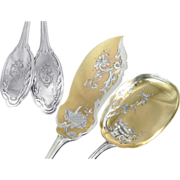 Louis Coignet - Antique French Sterling Silver Ice Cream Serving Set (2pc.)Louis XVI Pattern