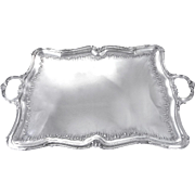 Somptuous French Sterling Silver Serving Tray Louis XV Style - Rococo. Henri Gauthier Paris