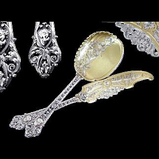 Henri Soufflot - Antique French Silver & Vermeil Ice Cream Serving Set