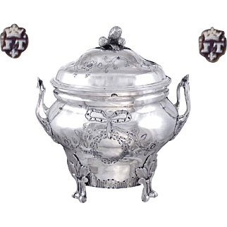 J. Teissere - XVIII°th. Century French Sterling Silver Sugar Bowl - Marseille