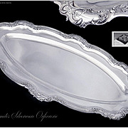 Ravinet & d'Enfert - Antique French Sterling Silver Large Serving Dish - Paris XIXth c. Minerve