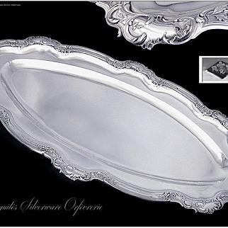 Ravinet & d'Enfert - Antique French Sterling Silver Large Serving Dish - Paris XIXth c. Minerve