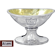 Genova - Royaume de Sardaigne - Antique Sterling Silver and Vermeil Open Salt . 1822