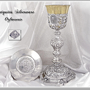 ARMAND-CALLIAT - French Sterling Silver and Vermeil Chalice & Paten