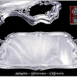 Prestigious & Rare Antique French Sterling Silver Service Tray by Henri Soufflot